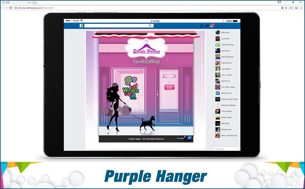 social-media-site-Purple-Hanger